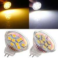 MR11 1.5W 9 SMD 5050 Warm White/White AC/DC 12V LED Spotlightt Bulb