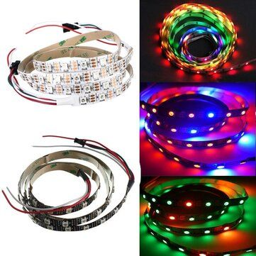 1M WS2812B 5050 RGB Non Waterproof 60 LED Strip Light Dream Color Changing Individual Addressable DC 5V