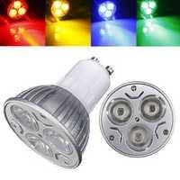 GU10 3W AC 220V 3 LEDs Red/Yellow/Blue/Green LED Spotlight Bulbs
