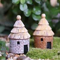 Micro Landscape Decorations Resin Mimi House Garden DIY Decor