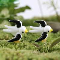 Resin Mini Swallow Micro Landscape Decorations Garden DIY Decor
