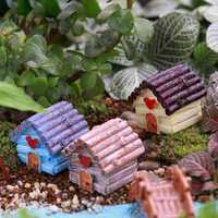 Micro Landscape Decorations Resin Mini House Garden DIY Decor
