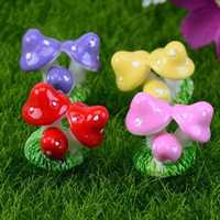 Mini Mushroom Clump Micro Landscape Decorations Garden DIY Decor