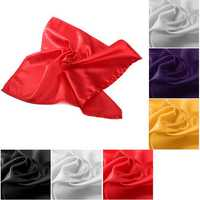 5pcs 50cm Square Satin Napkins Handkerchief Pocket Squares Wedding