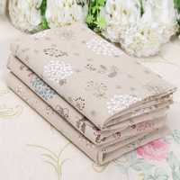 Dandelion Cotton Linen Fabric Patchwork For DIY Tablecloth Bed Cover