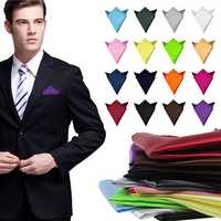2pcs Satin Silk Men Suit Pocket Square Handkerchief Banquet Wedding Hanky
