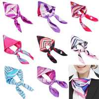 Mix Color Womens Silk Scarf Kerchief Airline Stewardess Scarves Business Wear