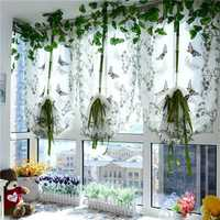 100x80cm Butterfly Flower Liftting Sheer Curtain Tulle Door Window Curtain Blinds