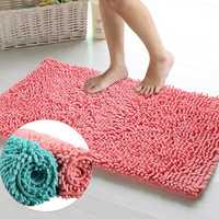 40x60cm Chenille Bathroom Anti Slip Absorbent Carpet Doormat Shaggy Floor Rug