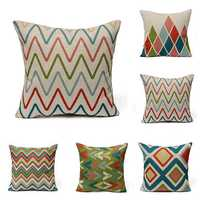 Geometric Waves Home Decor Throw Linen Pillow Case Sofa Cushion Cover