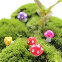 Mini Cute Mushroom Flower Pot Garden Resin Creative Decoration