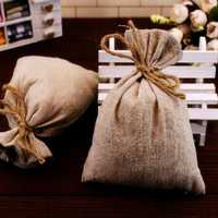 50X50cm Natural Jute Burlap Hessian Fabric DIY Craft Material