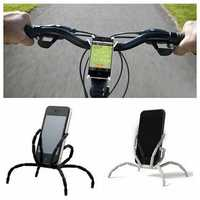 Bicycle Universal Phone Holder Stands Case 8 Legs for Samsung S7 S6 edge S5 S4 iphone 7 / Plus 6 6S SE and Any Cell Phone less than 5.5inch