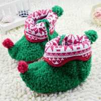 Christmas Warmer Baby Toddler Newborn Cotton Cloth Shoes