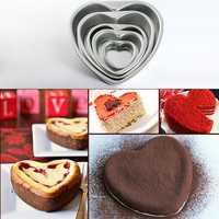 Aluminium Heart Shaped Fondant Cake Mold Chocolate Mold Wedding Gift