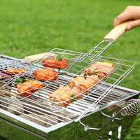 BBQ Tools Meshes Folder Fish Clip Grilled Fish Net Barbecue Grills