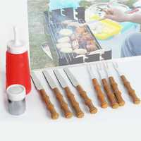10Pcs BBQ Tools Fork Knife Spice Jar Jam Bottle Barbecue Combination