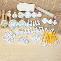 14 Sets 46PCS Fondant Cake Decorating Set Fondant Plunger Cutter