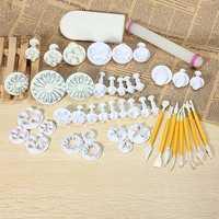 14 Sets 46PCS Fondant Cake Decorating Set Fondant Plunger Cutter
