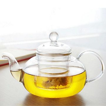 350ML 1000ML Heat Resistant Glass Teapot With Infuser Coffee Tea Leaf