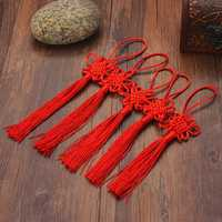 10Pcs Red Hand Knit Chinese knot Gift Celebration Supplies Car Pendant