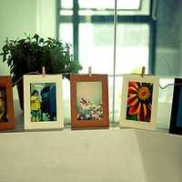 10Pcs 6 Inch Hanging Album Clip Kraft Paper Photo Frame DIY Art Decor