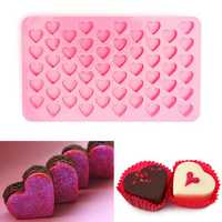 55 Holes Mini Heart Silicone Cake Muffin Chocolate Mold