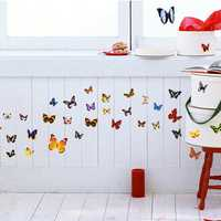 42PCS DIY Colourful Butterflies Home Removable Decor Wall Stickers Kids Room Art Decal