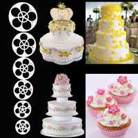 6Pcs Plum Flower Fondant Cake Sugarcraft Cutter Mold