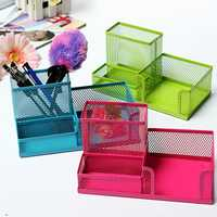 Mesh Desktop Storage Box Organization Drawer Pen Card Case