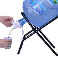 Bottle Water Invert Rack With A Spout And A Stick