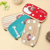 Cute Canvas Pencil Case Makeup Pouch Stationery School Bag