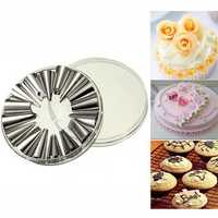 16Pcs Cup Cake Cake Icing Piping Nozzles Pastry Tip Decorating Tool