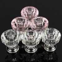 12Pcs Acrylic Crystal Clear Door Drawer Knob Handle