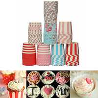 50Pcs Greaseproof Muffin Cup Cake Cups Paper Baking Liners Kitchen Accessories