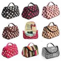 Zebra Stripe Portable Makeup Cosmetic Case Storage Travel Bag