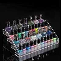 4 Tiers Acrylic Nail Polish Display Stand Cosmetic Organizer