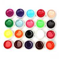 20 Mix Pure Colors Acrylic Nail Art UV Gel Builder