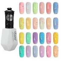 24 Colors Cheese Soak Off UV Nail Gel Polish Sequins Shiny Manicure