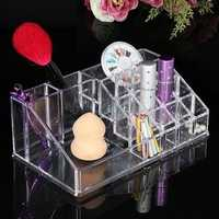 Quadrate Acrylic Clear Cosmetic Container Makeup Storage Organizer