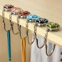 Flower Design Folding Handbag Holder Bag Hanger Purse Table Hook