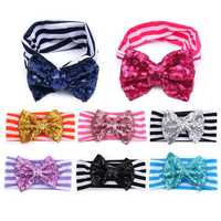 Cotton Stripe Sequins Adorable Baby Girls Headbrand Hair Accessories Hoops Hair Band