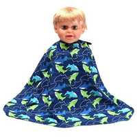 Child Kid Shark Barber Salon Hair Cutting Hairdressing Cape Grow Apron