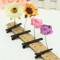 Lover Cute Sunflower Rose Flower Spring Our Of head Hair Clip Hairpin Headwear