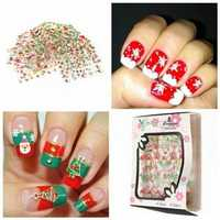 25 Sheets Christmas Design Nail Art Sticker Decals Decoration