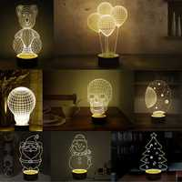 3D Visual LED Small Table Night Light For Holiday Valentine's Day