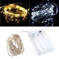 5M 50 LED String Fairy Light Battery Operated Christmas Party Decoration Holiday Lamp