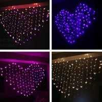 2M Heart Shape LED Butterfly Lights String Curtain Light Christmas Wedding Holiday Decor