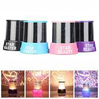 LED Starry Night Cupid Love Projector Lamp Projecting Light Kids Gift
