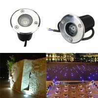 1W LED Waterproof Outdoor In Ground Garden Path Flood Landscape Light